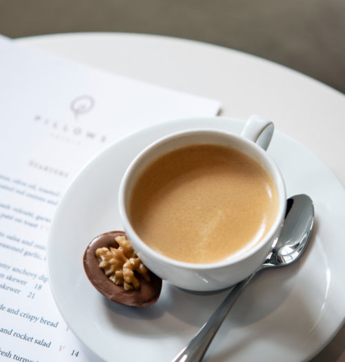 Cup of coffee at Pillows Hotels